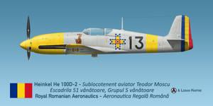 Teodor Moscu's Heinkel He 100D-2 by comradeloganov