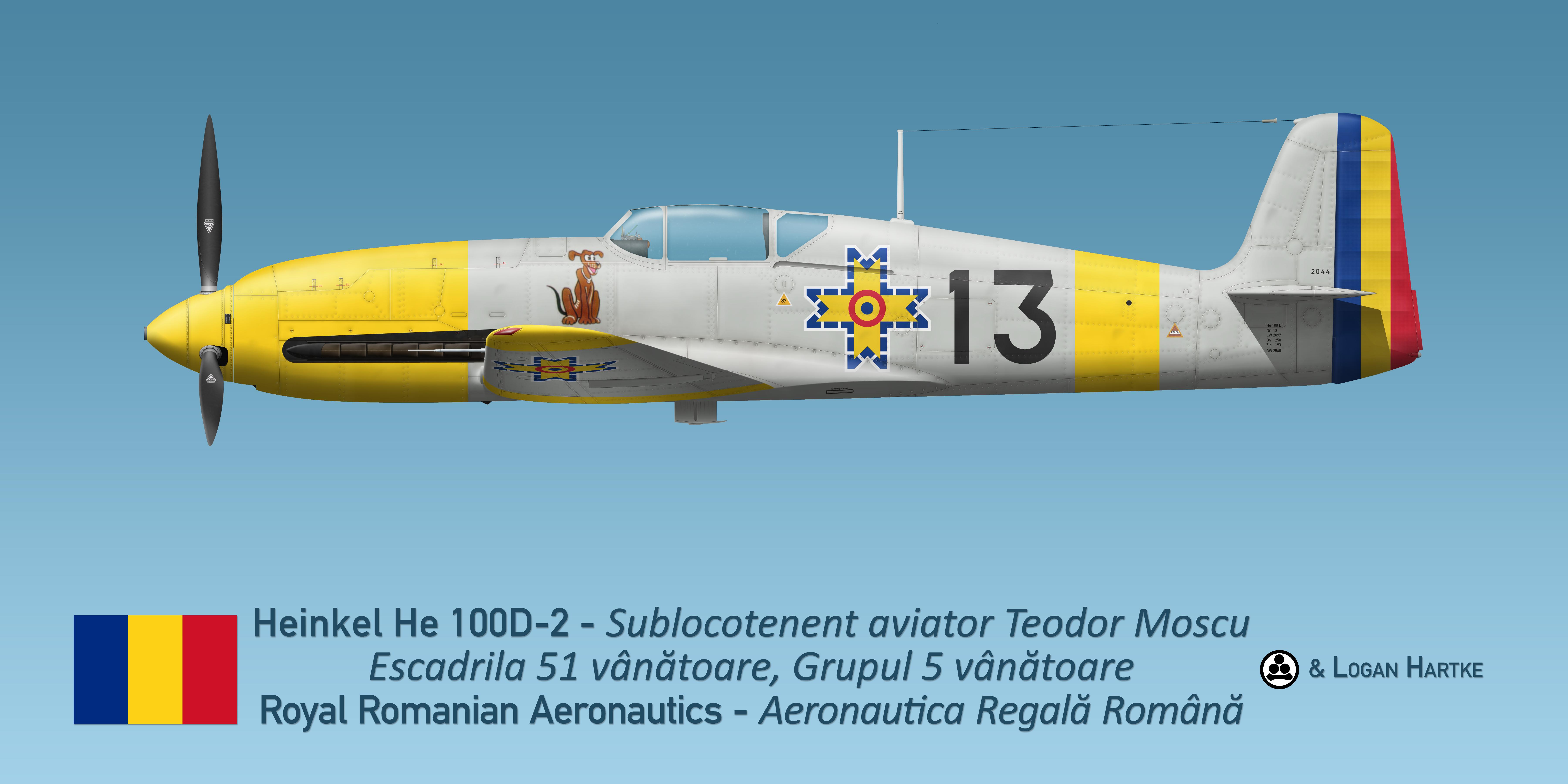 Teodor Moscu's Heinkel He 100D-2