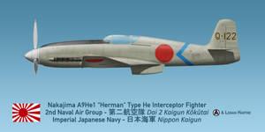 Japanese Nakajima A9He1 Herman (Heinkel He 100)