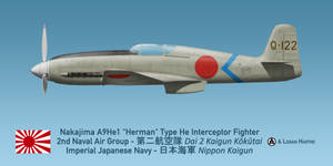 Japanese Nakajima A9He1 Herman (Heinkel He 100) by comradeloganov