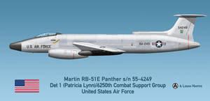 USAF Martin RB-51E Panther Patricia Lynn - Vietnam by comradeloganov