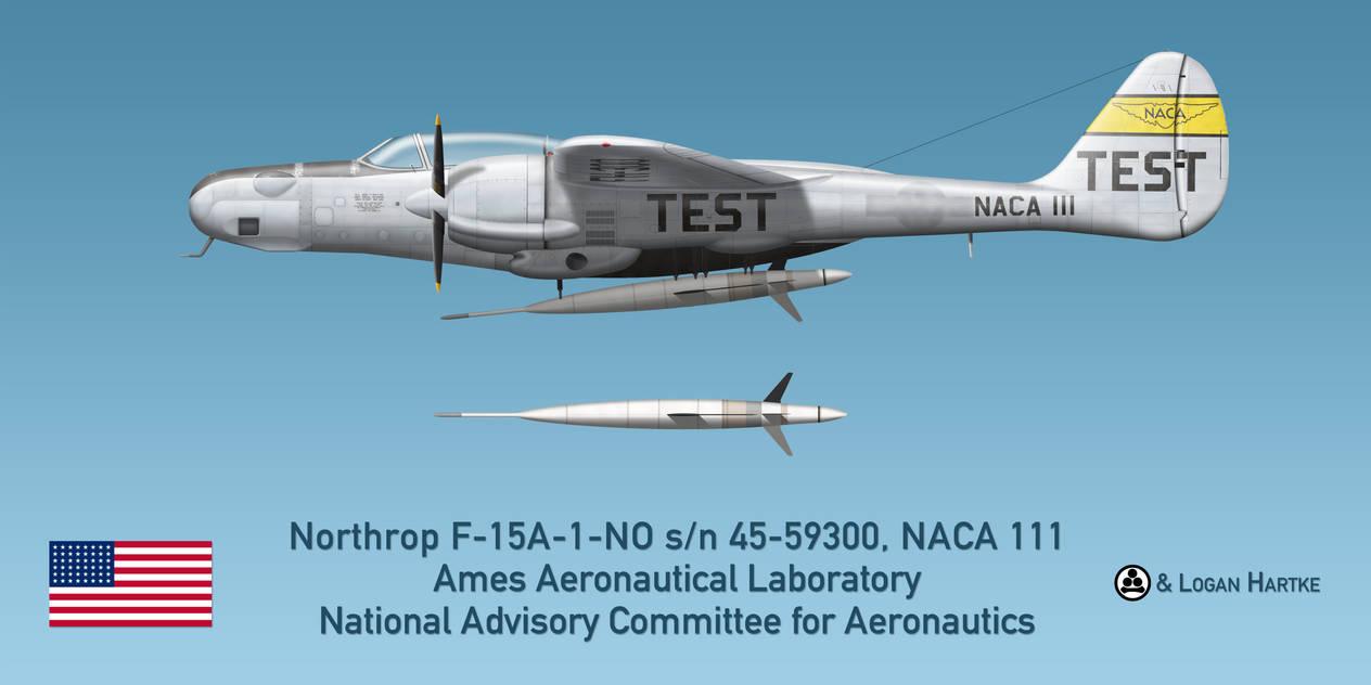 Northrop F-15A Reporter - NACA - Ames Laboratory by comradeloganov