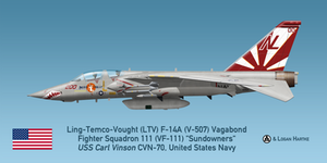 V-507 F-14A TARPS - VF-111 Sundowners - Miss Molly by comradeloganov