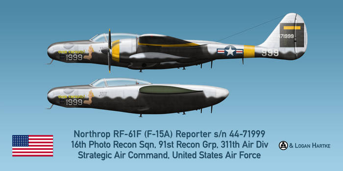 USAF RF-61F Reporter - Over Exposed!