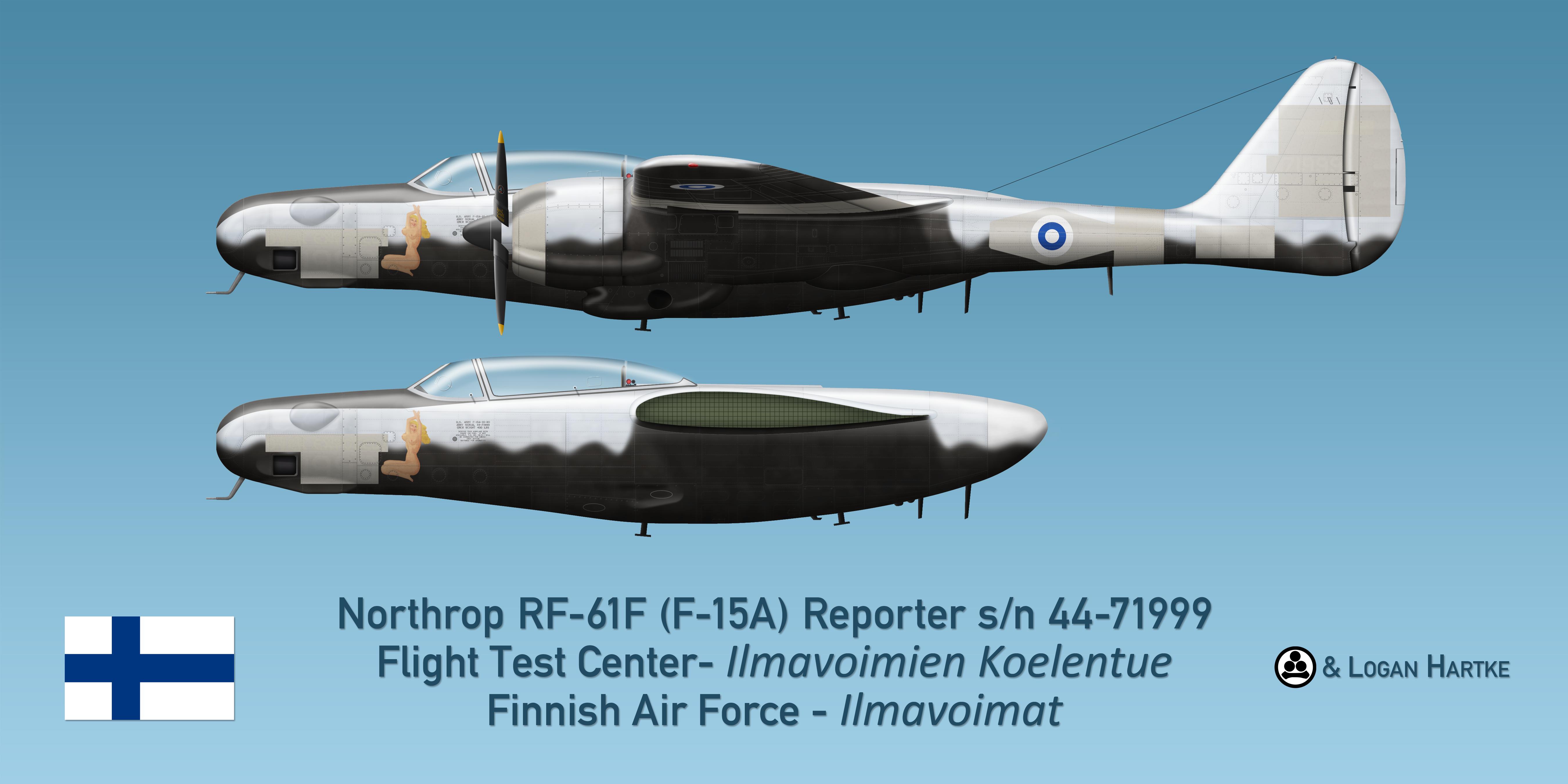Finnish RF-61F Reporter - Over Exposed!
