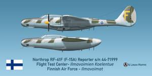 Finnish RF-61F Reporter - Esko 'Roope' Halme by comradeloganov
