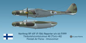 Finnish RF-61F Reporter - Erkki Itavuori by comradeloganov