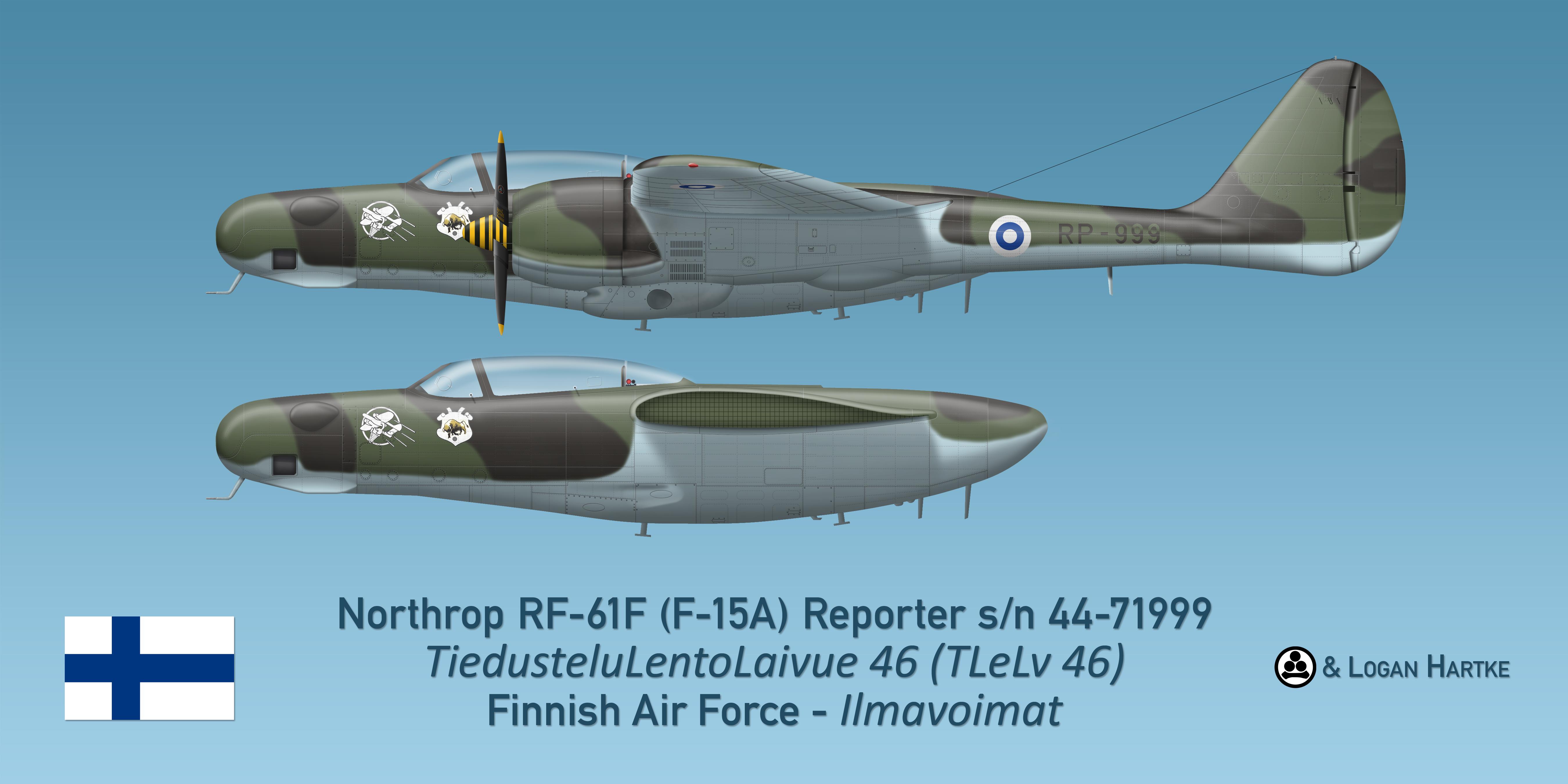 Finnish RF-61F Reporter - Erkki Itavuori