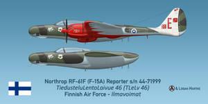 Finnish RF-61F Reporter - Utti Air Races by comradeloganov
