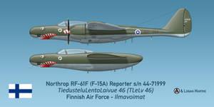 Finnish RF-61F Reporter -  Sharkmouth by comradeloganov
