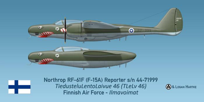 Finnish RF-61F Reporter -  Sharkmouth