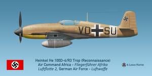 Photo-reconnaissance Heinkel He 100D-4/F3 Trop by comradeloganov