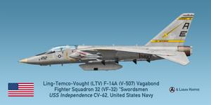 V-507 F-14A TARPS - VF-32 Swordsmen - Grenada by comradeloganov