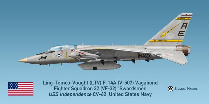 V-507 F-14A TARPS - VF-32 Swordsmen - Grenada