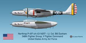 Northrop P-61F - Mrs. Bonnie - Lt. Col. Dunham by comradeloganov