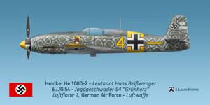 Hans Beisswenger's Heinkel He 100D-2 by comradeloganov