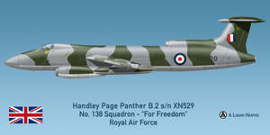 RAF Handley Page Panther B.2 - 138 Squadron