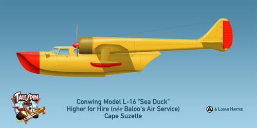 Baloo's Conwing L-16 Sea Duck - Disney's Talespin
