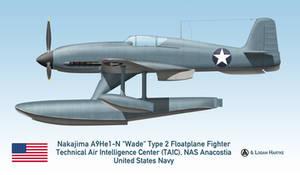 Captured Nakajima A9He1-N Wade Floatplane