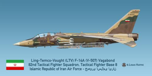 Vought V-507 F-14A Vagabond - Iran-Iraq War