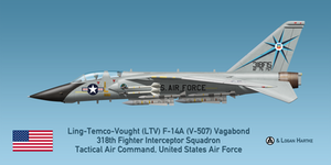 USAF V-507 F-14A - 318th FIS - Green Dragons