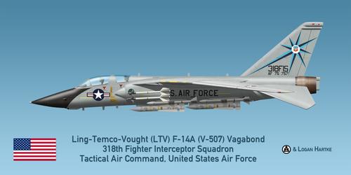 USAF V-507 F-14A - 318th FIS - Green Dragons