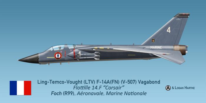 Aeronavale V-507 F-14A Vagabond - Flottille 14F