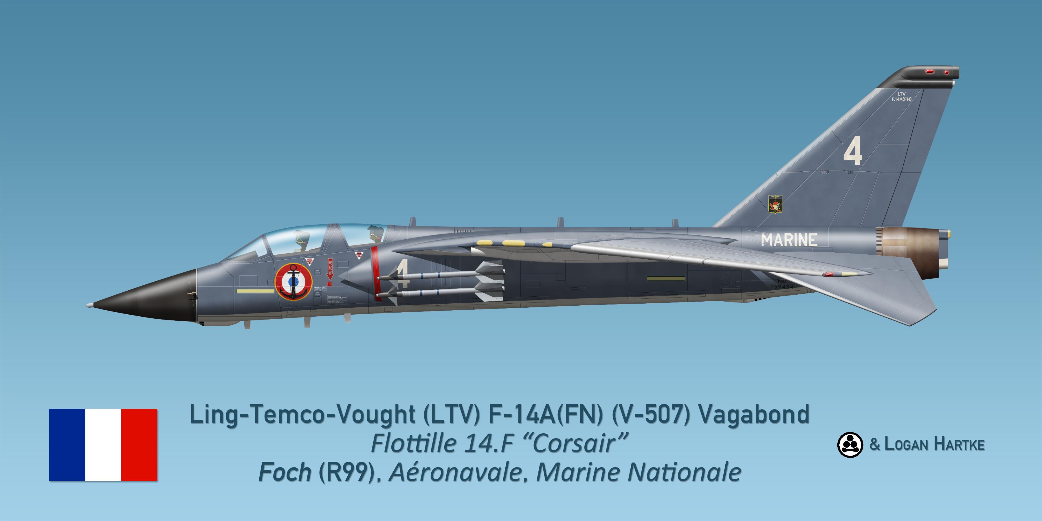 Aeronavale V-507 F-14A Vagabond - Flottille 14F by comradeloganov