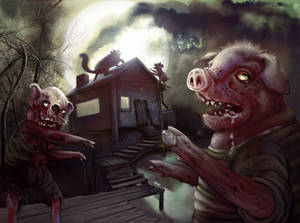 The Three Little Zombie Pigs
