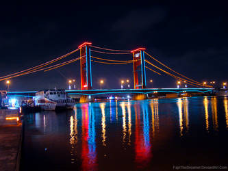 Ampera Bridge At Night by FajriTheDreamer
