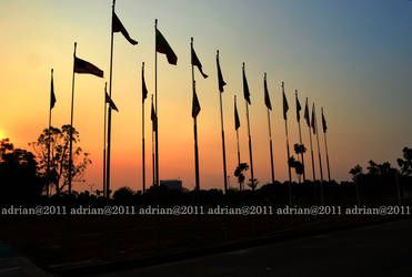 Bendera Peserta Sea Games 2011 by FajriTheDreamer