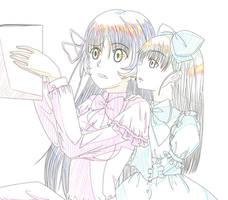 WIP Neko and Anna by Gurvana