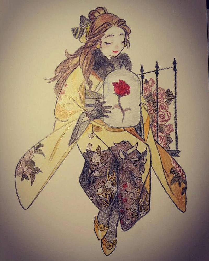 Belle wears a kimono by AlasDeSirena