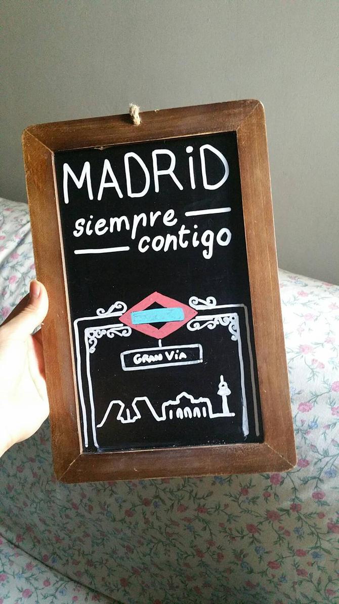 Madrid siempre contigo.  by AlasDeSirena