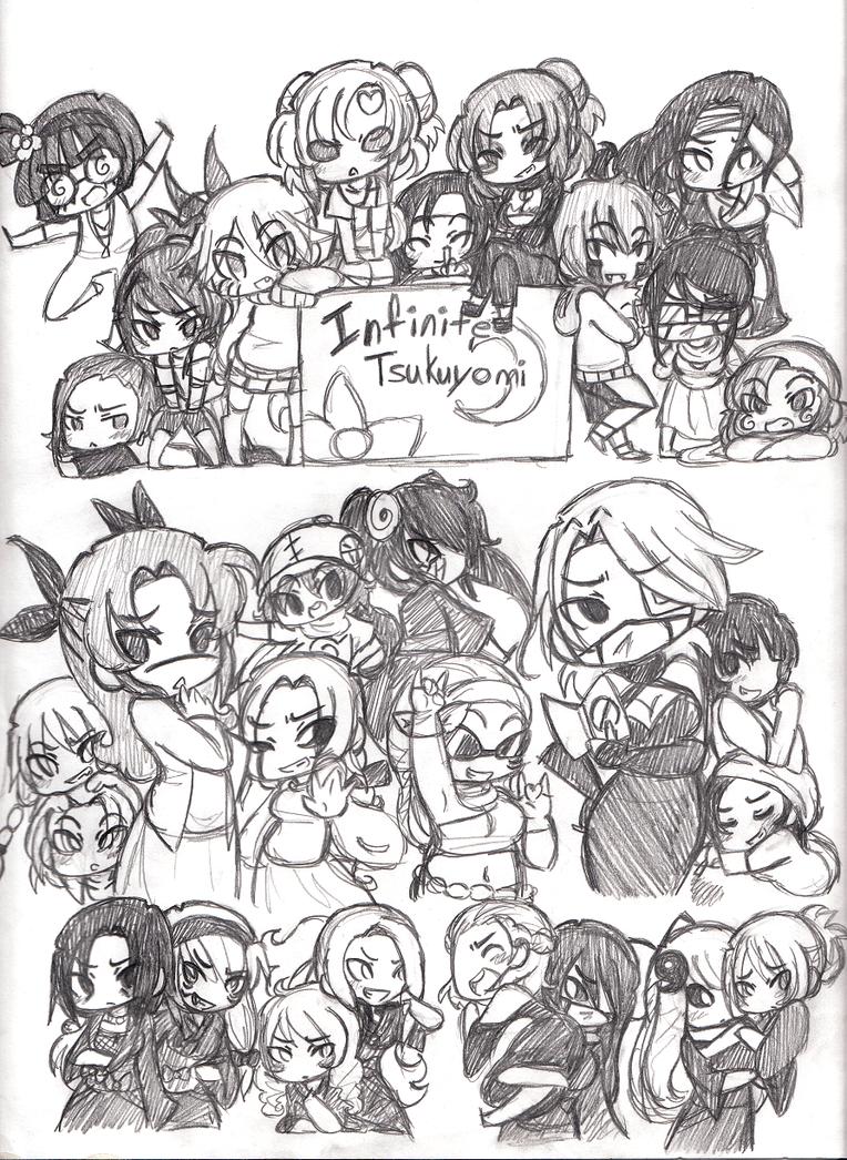 Naruto everybody genderbend doodle by merrilywerosalynn