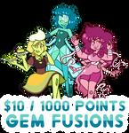 Gem Fusions Commission Sale by serenamidori