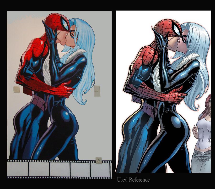 Spiderman mural compairison by bluelena on deviantart - Poster mural spiderman ...