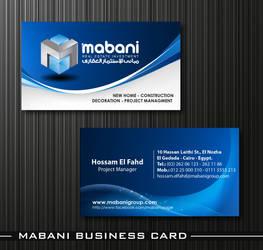 Mabani Business Card 01 by HaythamFayed