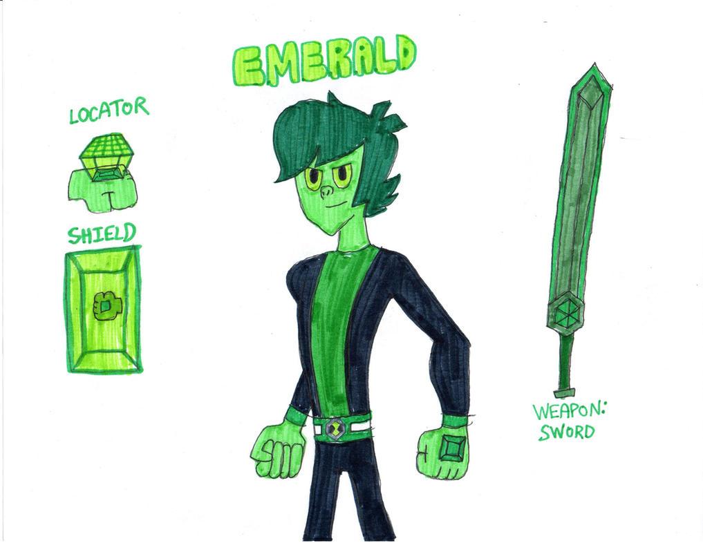 Ben 10 Gem Form: Emerald by AlphaOmegaBros on DeviantArt