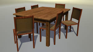 Table an Chairs by wasteofammo
