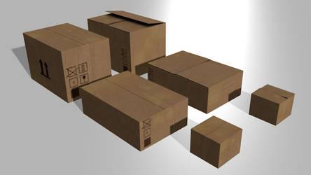 Coardboard Boxes by wasteofammo