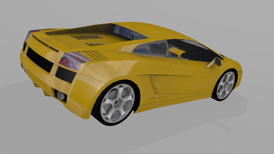 Lamborghini Gallardo Back BGE by wasteofammo