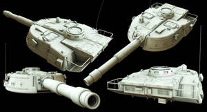 Sci-fi Tank Turret preview by Punakettu