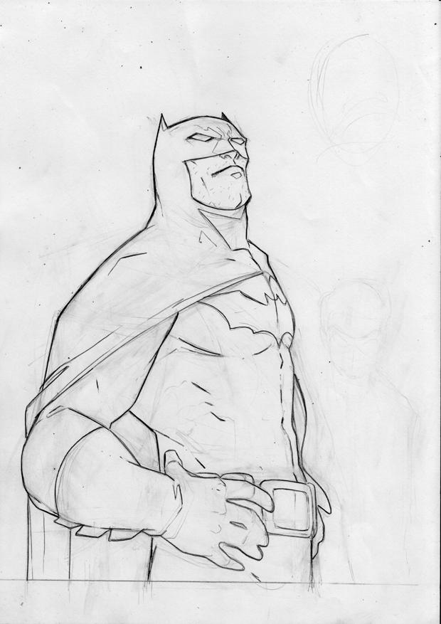 Batman Late Sketch by ikanasin
