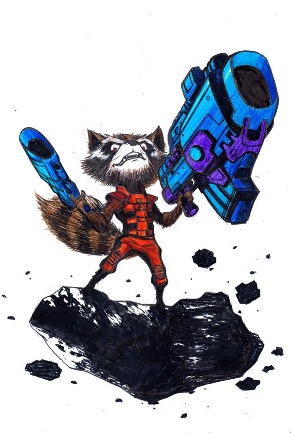 Rocket Racoon by ikanasin