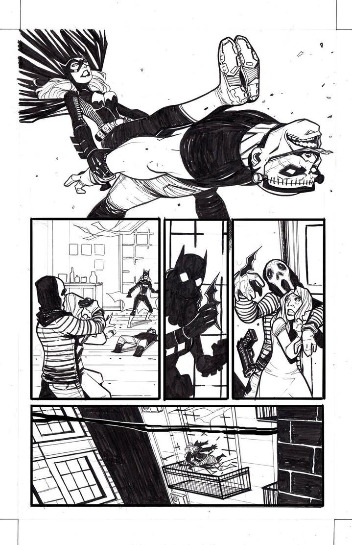 Batgirl  test page 9 by ikanasin