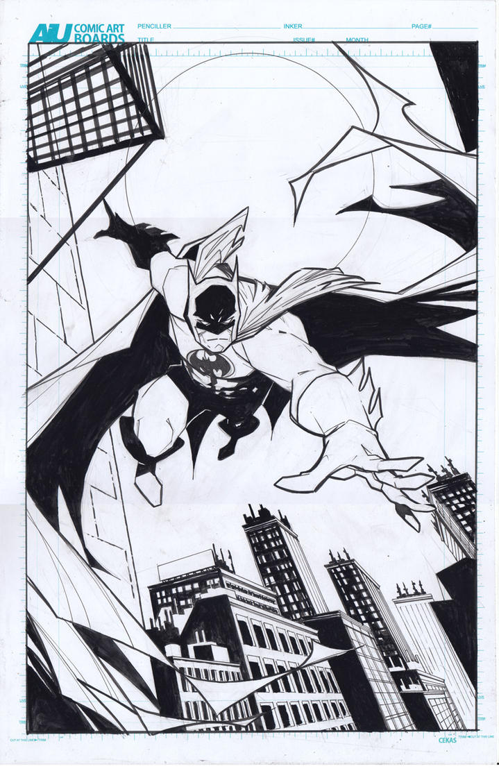 Batman Redraw by ikanasin