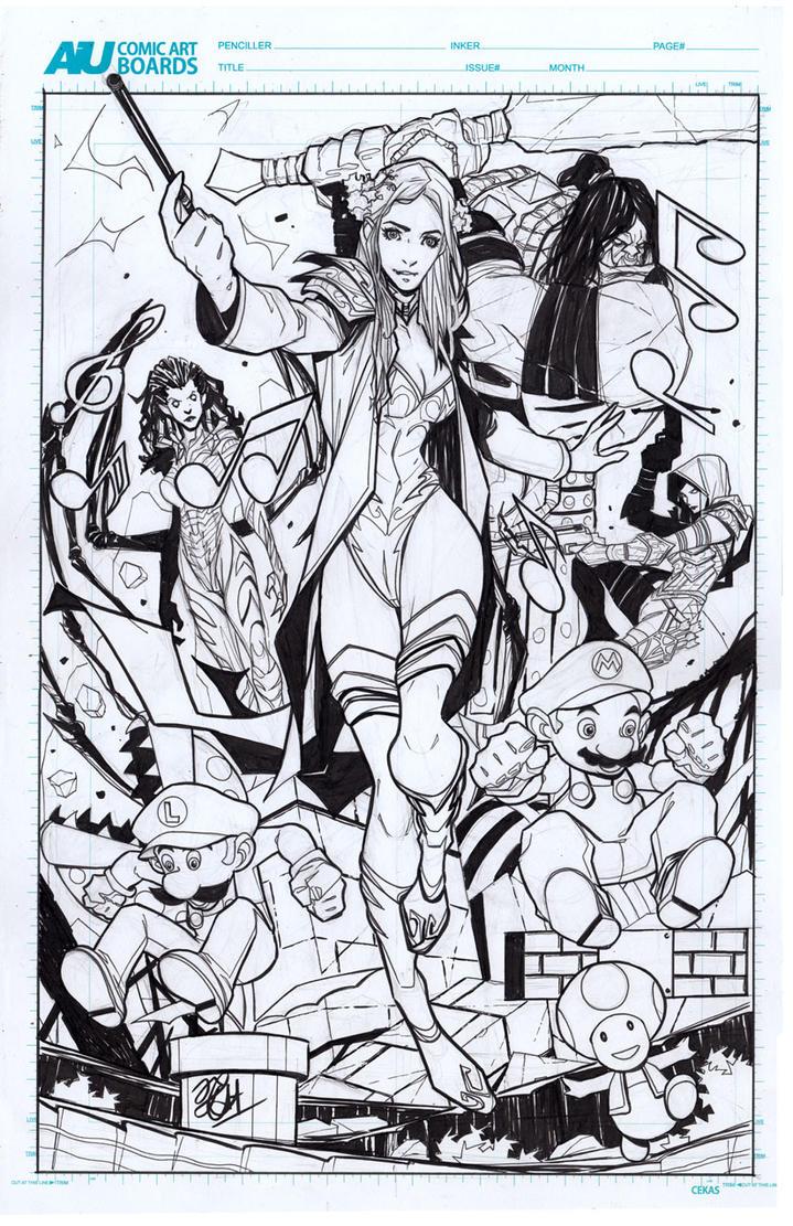Commission stuff! by ikanasin