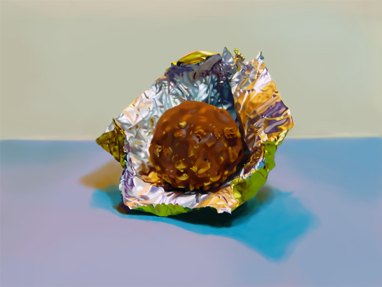 Hyper Realistic Painting: Ferrero Rocher by Khorin