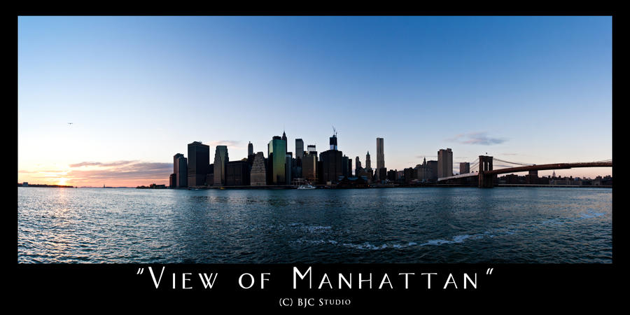 View of Manhattan by monsterfiend